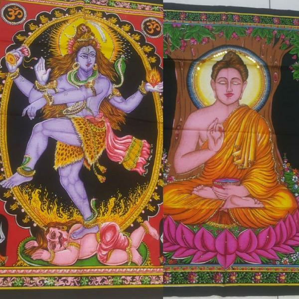 Panos bandeiras deuses indianos