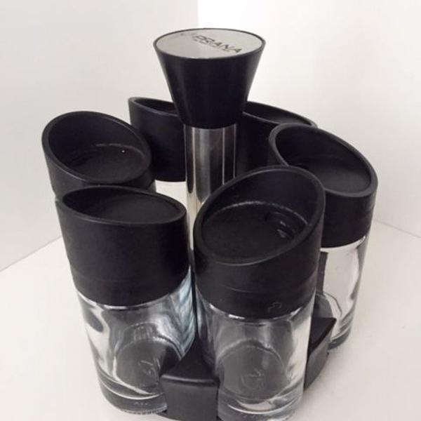 porta temperos giratório (prana) - com 6 vidros