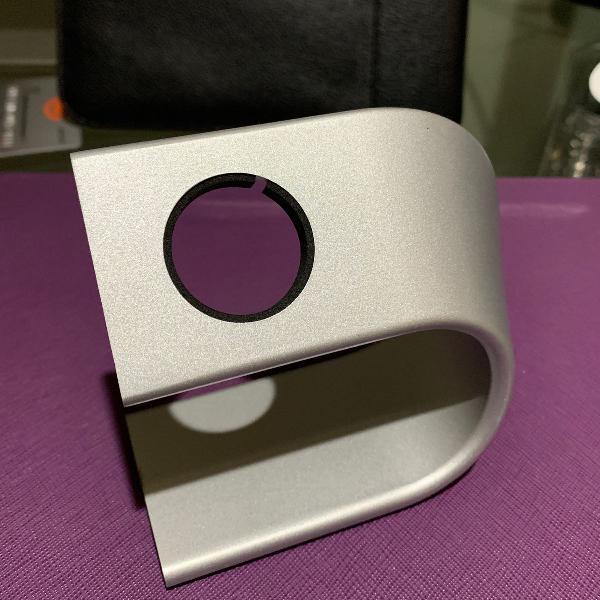 Suporte stand para carregador de apple watch de alumínio