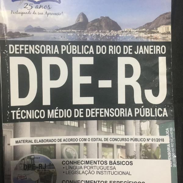 Técnico de defensoria pública - rj