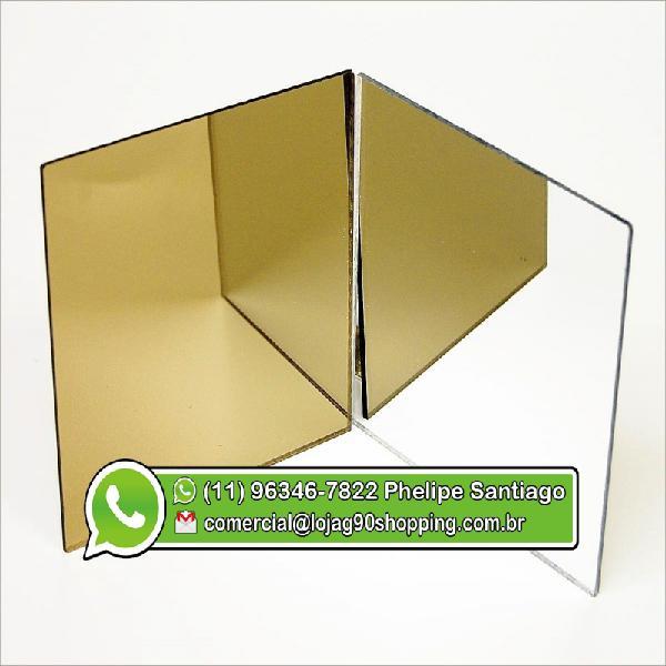 Acrílico Espelhado Dourado 1.00 x 2.00 2MM