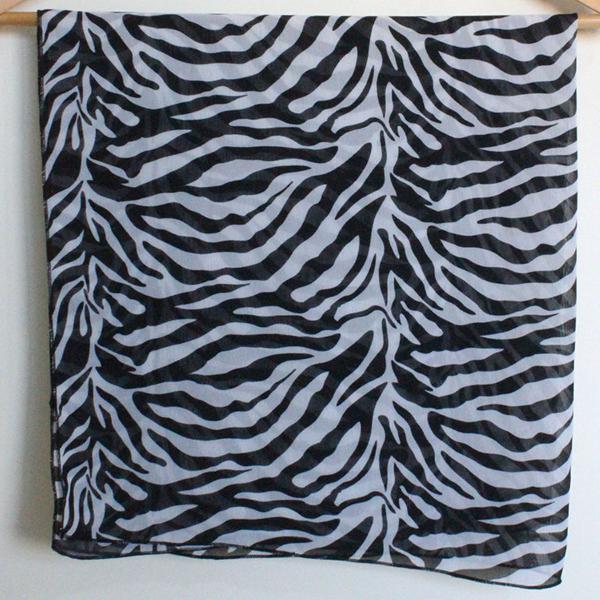 Lenço estampado zebra