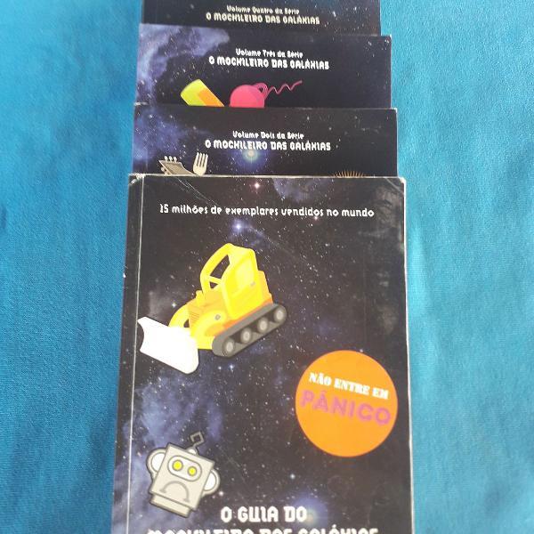 Livro o guia do mochileiro das galáxias - 5 livros