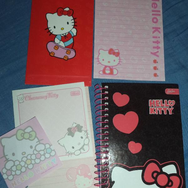 Caderneta e papel de carta hello kitty
