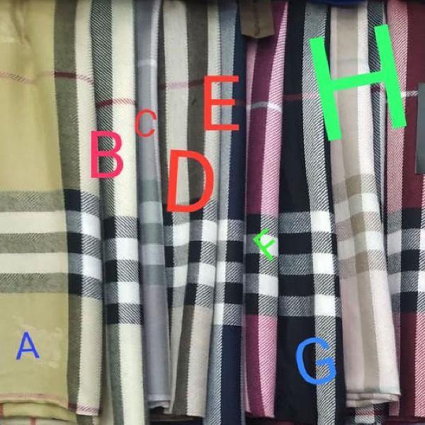 Echarpe cachecol lenço xadrez burberry lindo! lenço