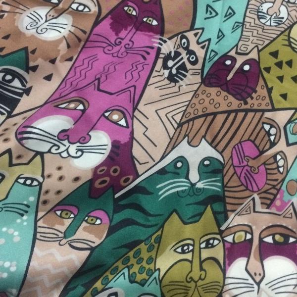 Lenço seda gatinhos turco
