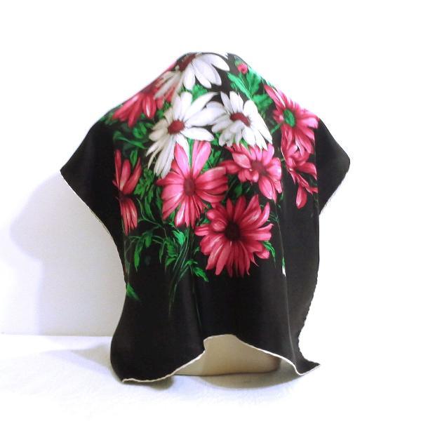 Lenço seda pura floral
