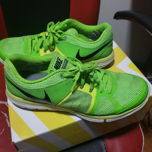 Nike flex run 2014 verde limão