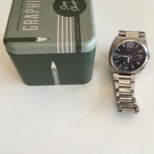 Relógio guess original prata. seminovo.
