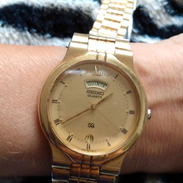 Relógio masculino seiko dourado