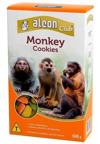Alcon monkey cookies alimento p/ primatas macacos sagui 600g
