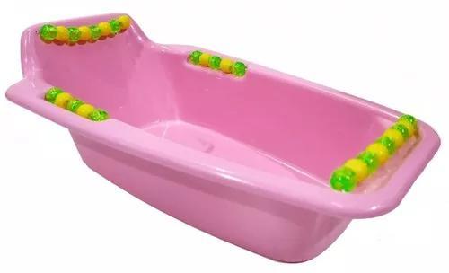 Banheira plástica calopsita com enfeites a30 x l18 x a10 cm
