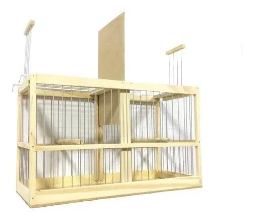 Gaiola transporte duplo para pássaro coleiro canario curio