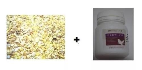 Kit 2kg farinhada reprodução canários e 1 pote ferti-vit