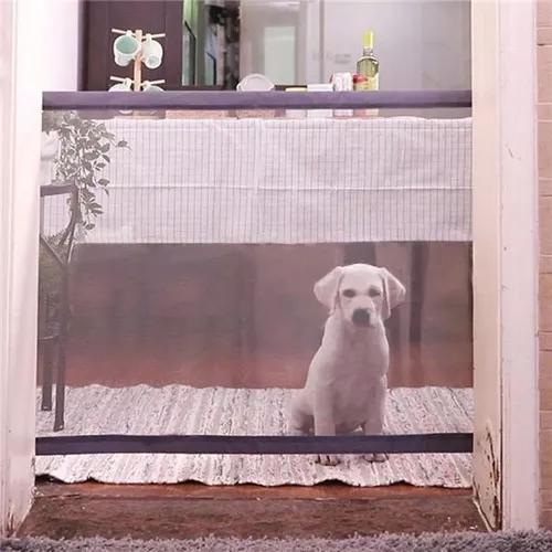 Portão guarda cão porta de malha tela interior pet