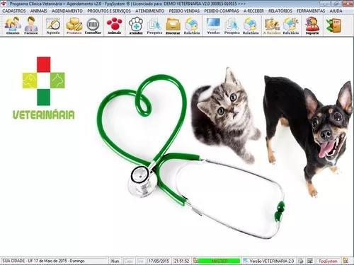 Programa clinica veterinária com e agendamento e vendas