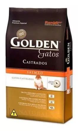 Ração golden gatos adulto castrados salmão 3kg - pr