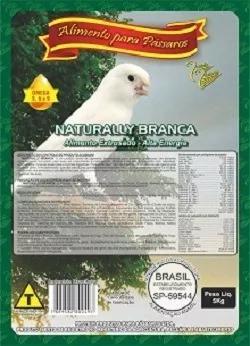 Ração pássaros naturally branca extrusada protein 5 kg