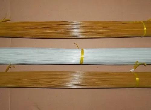 Vareta fibra gaiola pipas etc varias espessuras 1 kg