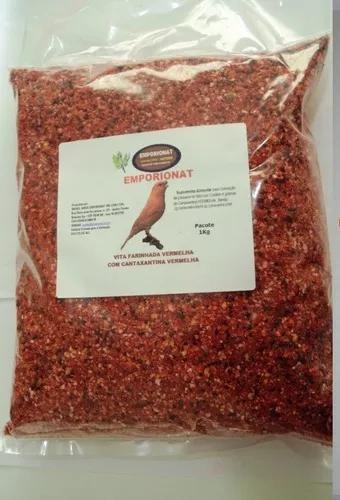 Vita vermelha com cantaxantina para canários e tarim - 1kg