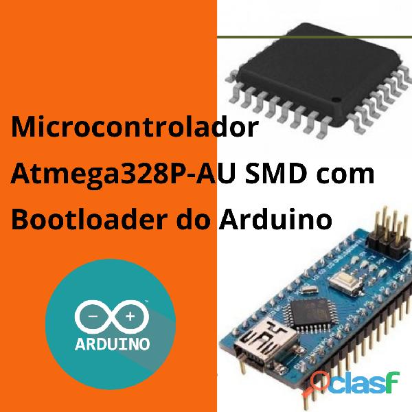 Microcontrolador atmega328p au smd + bootloader arduino nano