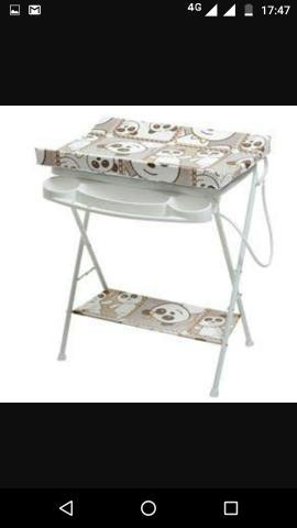 Banheira com trocador luxo galzerano nova na caixa