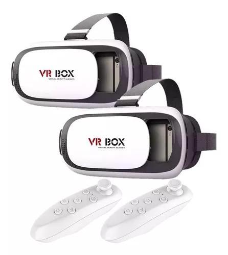 2 óculos realidade virtual 3d jogos vr + controle bluetooth