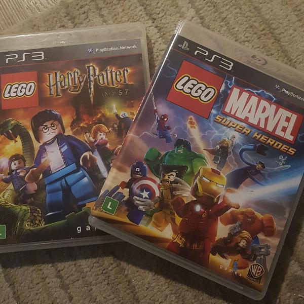 2 jogos PS3 Lego Harry Potter e Marvel Super Heroes (tais