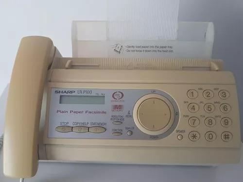 Aparelho fax sharp ux-p100 - fax + telefone + copiadora