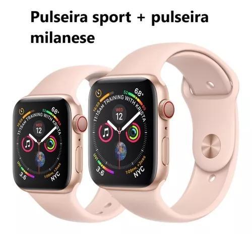 Apple watch série 4 40mm gps + celular + milanese +