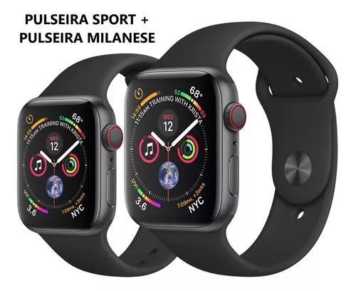 Apple watch série 4 44mm gps celular +milanese