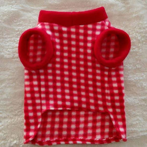 Blusa xadrez vermelha tam p