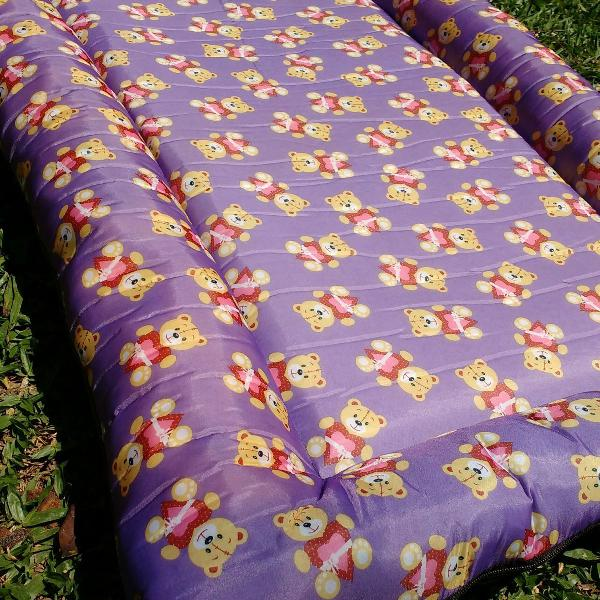 Cama tatame ursinhos lilás m para pets médios