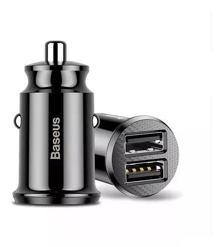 Carregador celular 12v veicular turbo 2 usb carro baseus