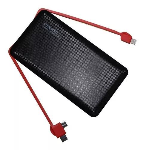 Carregador portátil pineng pn-956 usb celular 10.000 tipo c