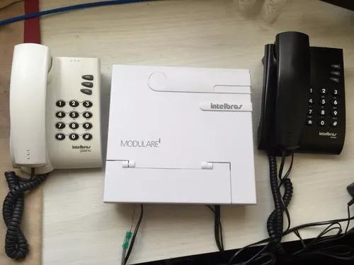 Central telefonica modulare i intelbras 2 linhas 8 ramais