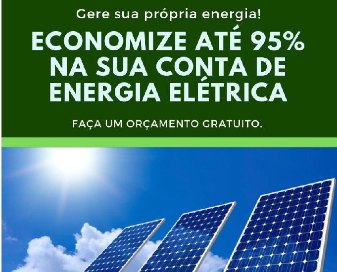 ENERGIA SOLAR! ECONOMIZE ATÉ 95% NA SUA CONTA DE ENERGIA!