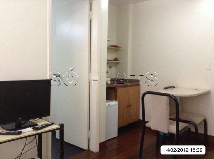Flat com 1 quarto para alugar, 35 m² por r$ 1.600/mês cod.