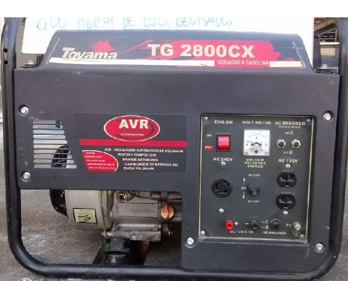 Gerador a Gasolina Toyama TG2800CX NOVO manual 6.5 HP