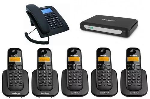 Kit Pabx Central Telefonica Minicom Slim Intelbras 6 Ramais