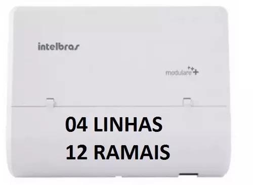 Micro pabx intelbras modulare mais 4 linha 12 ramal completa