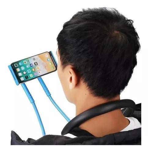 Suporte celular articulado de pescoço selfie cama mesa