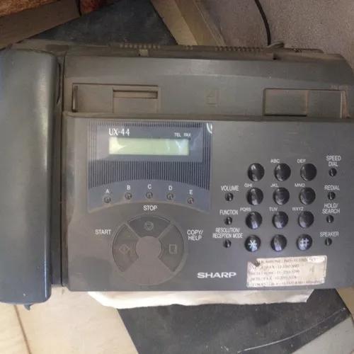 Telefone e fax sharp ux-44 ligando.