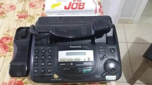 Telefone fax panasonic preto kx-ts520lx