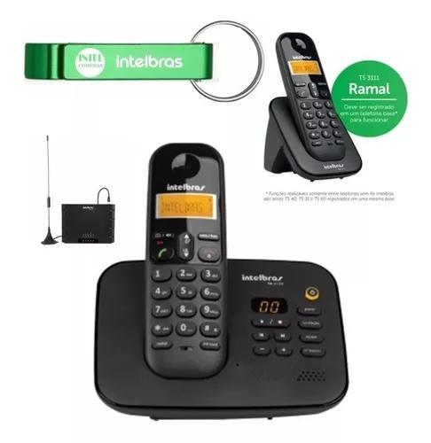 Telefone fixo ts 3130 ramal bina intelbras entrada chip