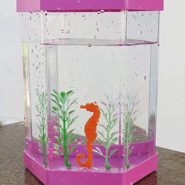 Aquário rosa para peixe beta