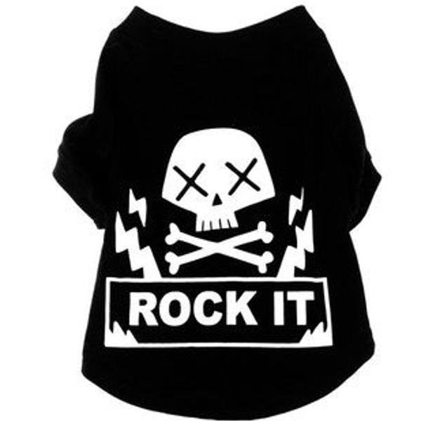 Camisetas rock para cães
