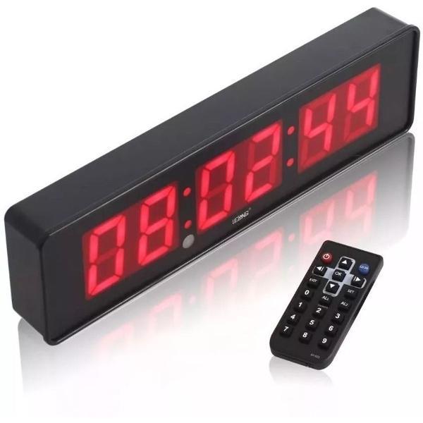 Cronometro relógio led digital parede mesa com controle