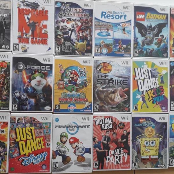 jogos wii variados (21 jogos)