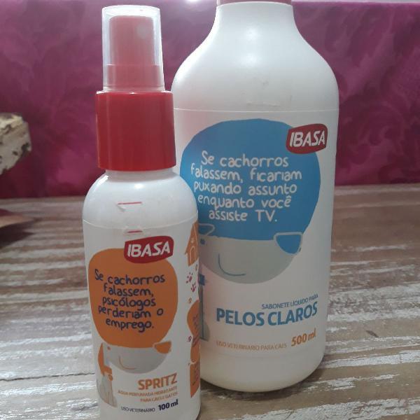 Kit sabonete líquido pelos claros + spritz água perfumada